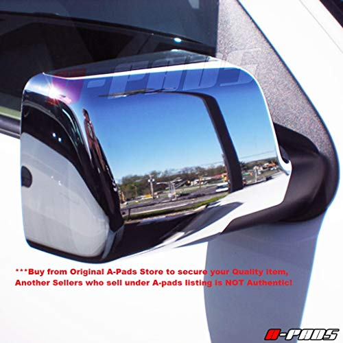 A-PADS Chrome Mirror Covers for Ford Explorer 2006-2010 + Sport TRAC 07-10 / Ranger 2006-2011 / Mercury Mountaineer 06-2009 - Full Chromed Mirrors Pair