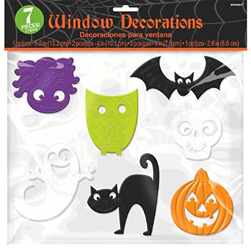 amscan Halloween Window Clings