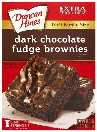 Duncan Hines Brownie Mix, Dark Chocolate Fudge (3 Pack)