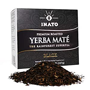 INATO PREMIUM Organic Roasted Yerba Mate | Loose Leaf | Rainforest Grown | South American Traditional Green Tea Drink | Air Dried | Clean Energy Boost (15 Servings)