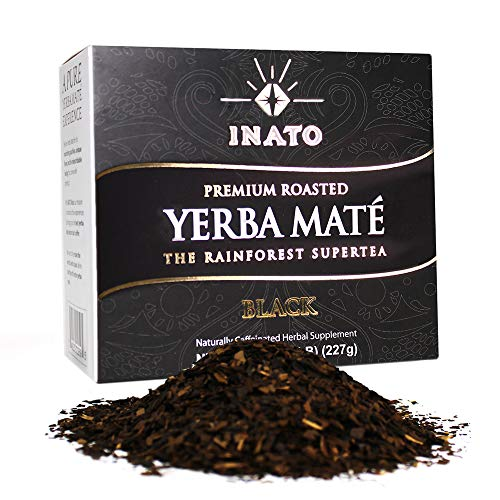 INATO PREMIUM Organic Roasted Yerba Mate   Loose Leaf   Rainforest Grown   South American Traditional Green Tea Drink   Air Dried   Clean Energy Boost (15 Servings)