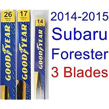 2014-2015 Subaru Forester Replacement Wiper Blade Set/Kit (Set of 3 Blades) (Goodyear Wiper Blades-Premium)