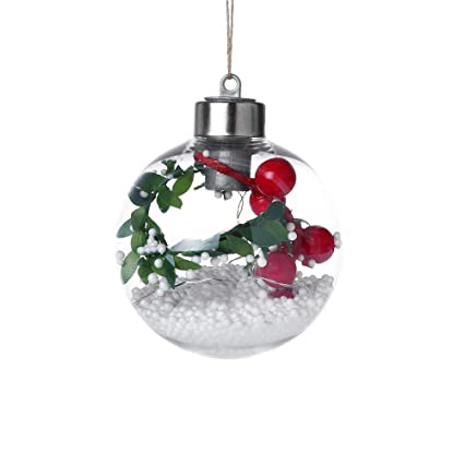 cyctech christmas balls light ornaments plastic shatterproof christmas tree decorations pendant party wedding hanging ball - Outdoor Christmas Ball Decorations