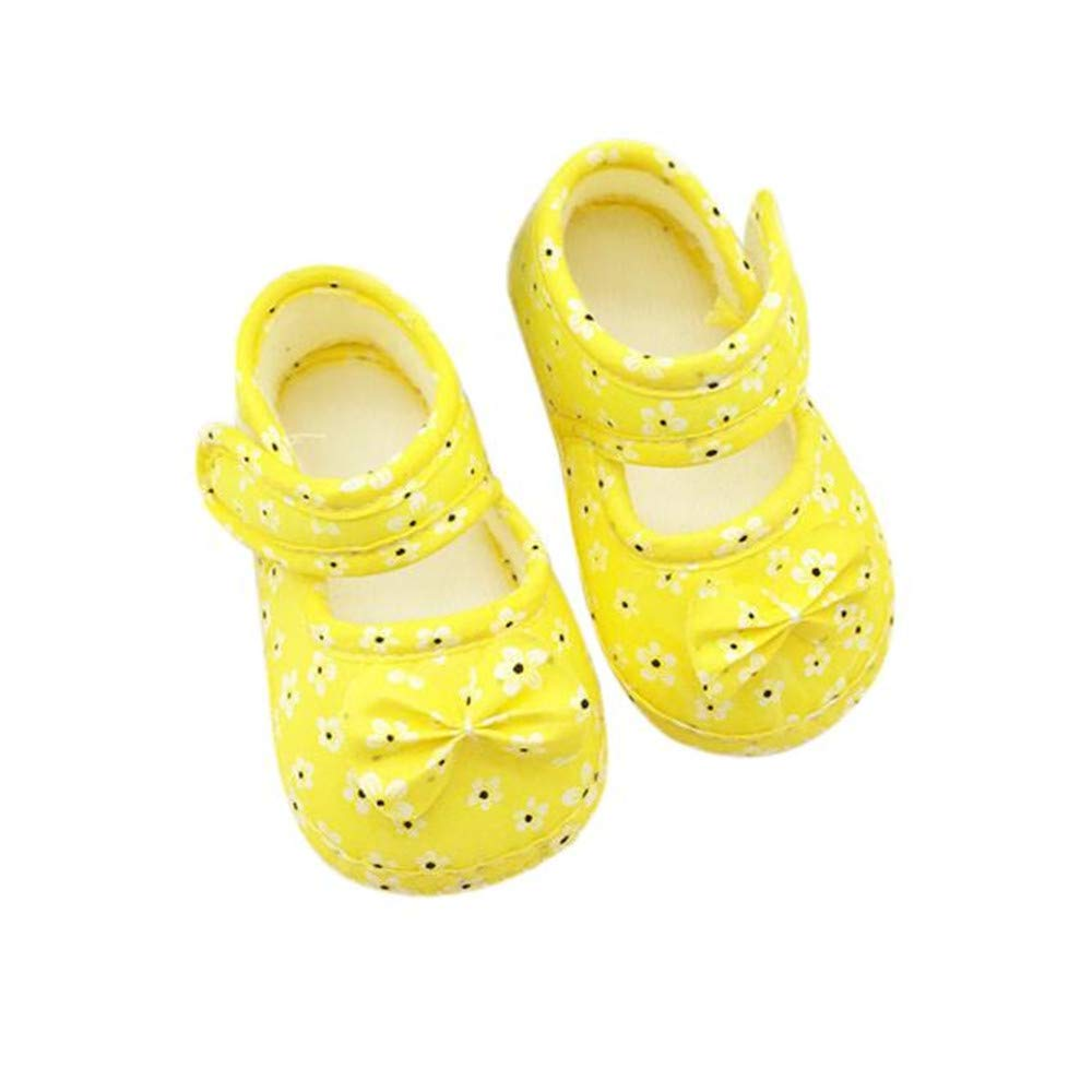 Kids Baby Bowknot Printing Newborn Cloth Shoes HHmei Floral bow baby toddler shoes