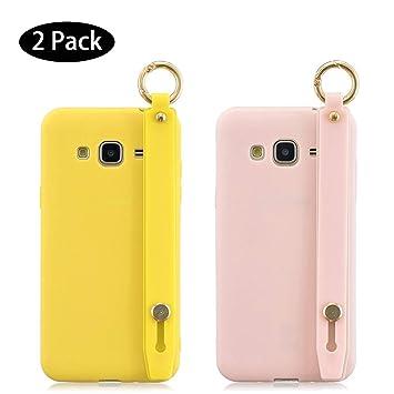 Leton [2 Pack] Funda Samsung Galaxy J7 2016 Amarillo Rosa ...