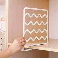 QLING - 2 separadores de estantes, prácticos separadores de armario para dormitorio, baño, cocina y oficina, sin…