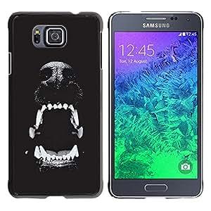 TaiTech/Duro Carcasa Funda–Dog Puppy Pet Cute Teeth–Samsung Galaxy Alpha G850