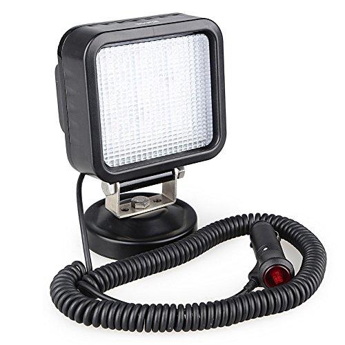 Rupse 27W Led Such Scheinwerfer Flut Spotbeleuchtung Vor Ort Arbeiten Licht mit Magnetfuß für Hummer Jeep und andere Geländewagen oder LKW Boot 5*3 hochintensive Leds Farbtemperatur: 6000K