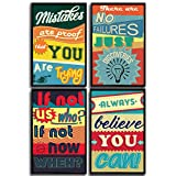Motivational and Inspirational Posters with Quotes for School or College Decor. Art Prints with Positive Vibes. Set Includes Four 11x17 inch Posters. Great Classroom Posters. Great Gift!