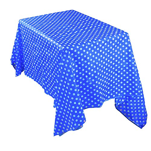 (Plastic Picnic Table Covers,Quaanti Waterproof Oilproof Tablecovers Table Cloth Cover Party Catering Events Tableware for Home Outdoor (Blue))