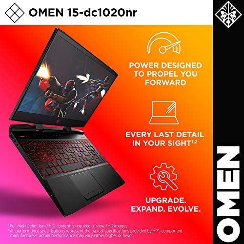 Omen by HP 2019 15-Inch Gaming Laptop, Intel i7-9750H Processor, NVIDIA GTX 1660Ti (6 GB), 8 GB RAM, 256 GB SSD, VR Ready, Windows 10 Home (15-dc1020nr, Black) 51u0MGN9qLL