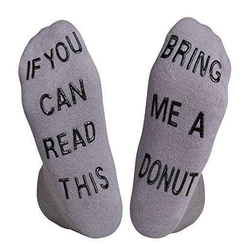 If You Can Read This Funny Cushion Slipper Novelty Non slip Donut Ankle Socks