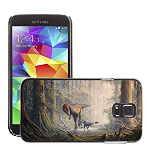 Hot Style Cell Phone PC Hard Case Cover // M00043821 drawings carcharodontosaurus artistic // Samsung Galaxy S5 i9600
