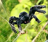 Spider Decorations, Halloween Spiders, Annymall Outdoor Halloween Spider, Hairy Poseable Spider, Scary Spider for Halloween Decorations (35 inch, Black)