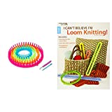Bundle Includes 2 Items - Darice 1171-58 Set of 4 Round Plastic Knitting Looms and I Can't Believe I'm Loom Knitting (Leisure Arts #5250)