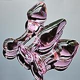 ZHS Pink Crystal butt plugs set Pyrex glass anal dildo ball bead fake penis female masturbate sex toys kit for adult women men gay (1pc)