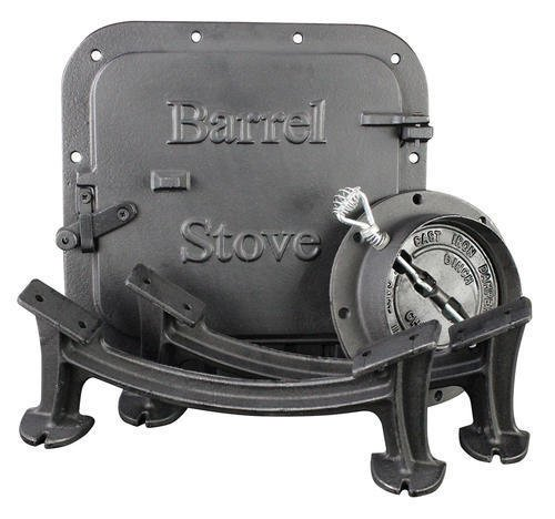 Price comparison product image US Stove BSK1000 Cast Iron Barrel Stove Kit.Heavy-duty cast iron