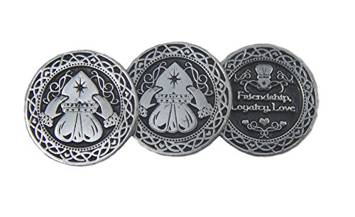 CA Irish Novelty Token Claddagh 3 Coins/St Patrick