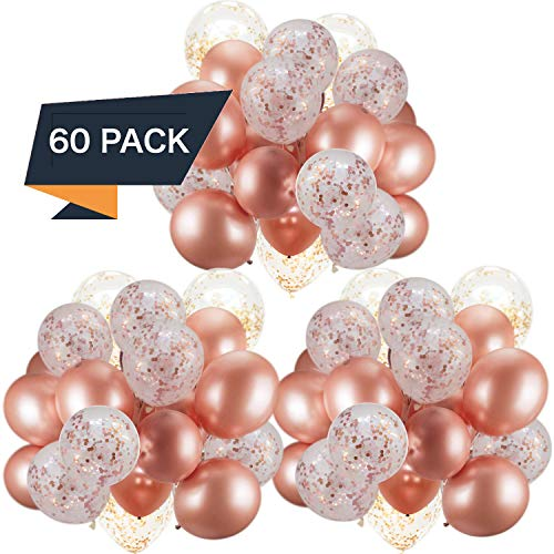 Top 10 best rose gold confetti balloons set
