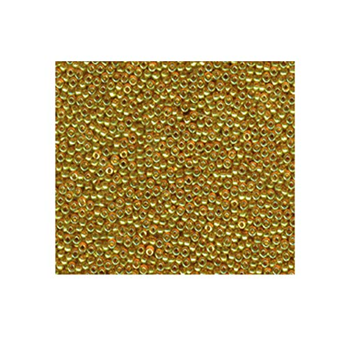 Topaz Gold Luster Miyuki Japanese round rocailles glass seed beads 11/0 Approximately 24 gram 5 inch tube