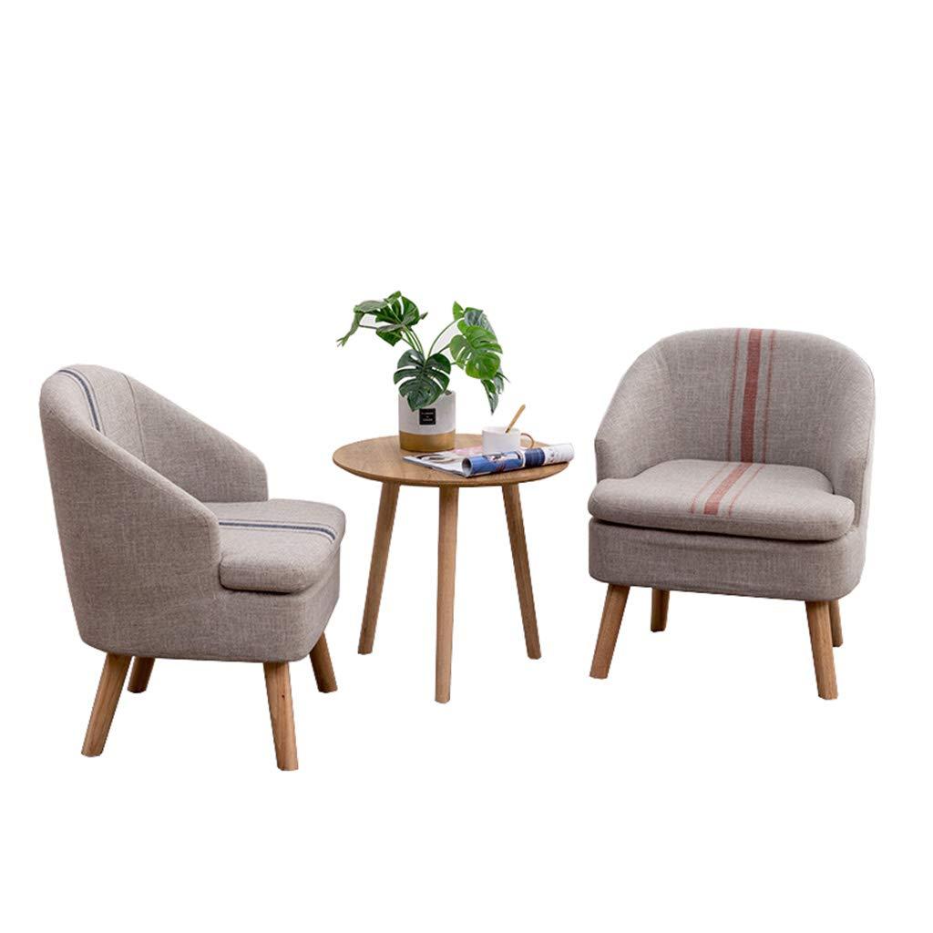 XLOO 3-teiliges Patio-Möbel-Set, Allwetter-gepolsterte Sofas für den Außenbereich Abnehmbarer und waschbarer Sofabezug, hochelastisches Kissen, Massivholz-Couchtisch