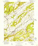 YellowMaps Bloomsbury NJ topo map, 1:24000 Scale, 7.5 X 7.5 Minute, Historical, 1955, Updated 1956, 26.7 x 22.1 in - Polypropylene