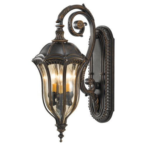 Murray Feiss MF OL6002 Three Light Outdoor Wall Sconce from the Baton Rouge Coll, Walnut