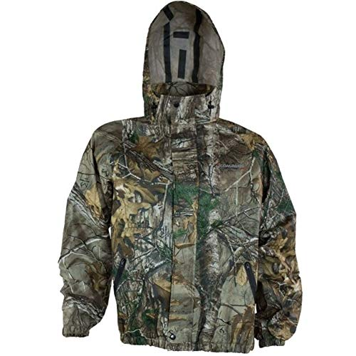 (COMPASS 360 Advantage Tek Non-Woven Rain Jacket, Small, Realtree Xtra)