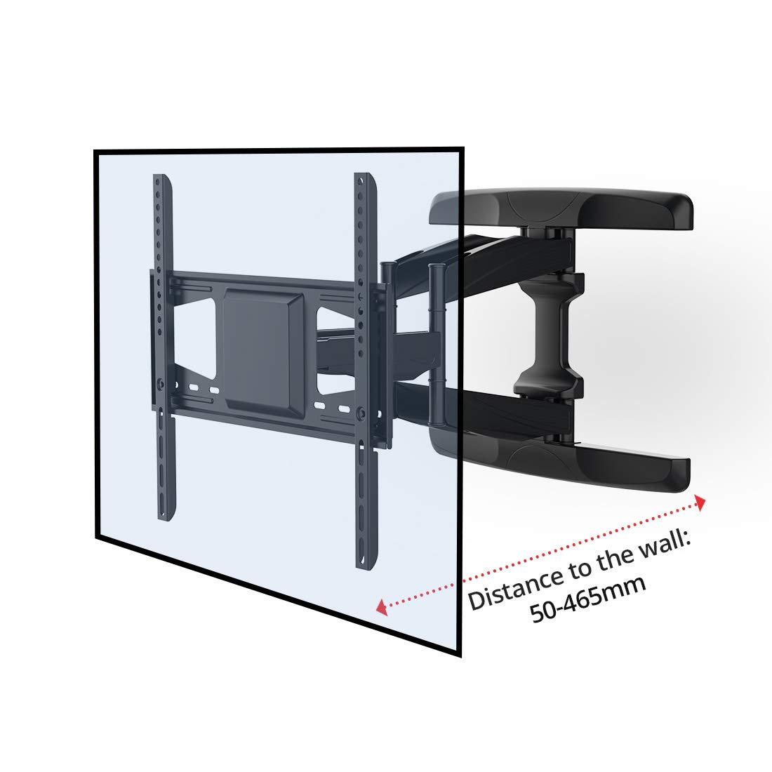 Fleximounts A29 Soporte de Pared para LED//LCD//Plasma//Pantalla Plana//TV de 42-70 Ultra Delgado con Brazo Articulado VESA MAX 600x400mm Carga MAX 90 kg. Inclinable y Giratorio Fijo