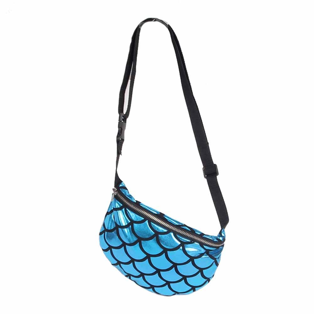 ACTLATI Fashion Mermaid Waist Bag Women Girls Purse Multi-purpose Storage Pruse Scales Pack
