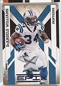 2010 DeAngelo Williams Panini EPIX AUTO Logo Patch Jersey #13 Carolina Panthers #/50 Football Trading Card