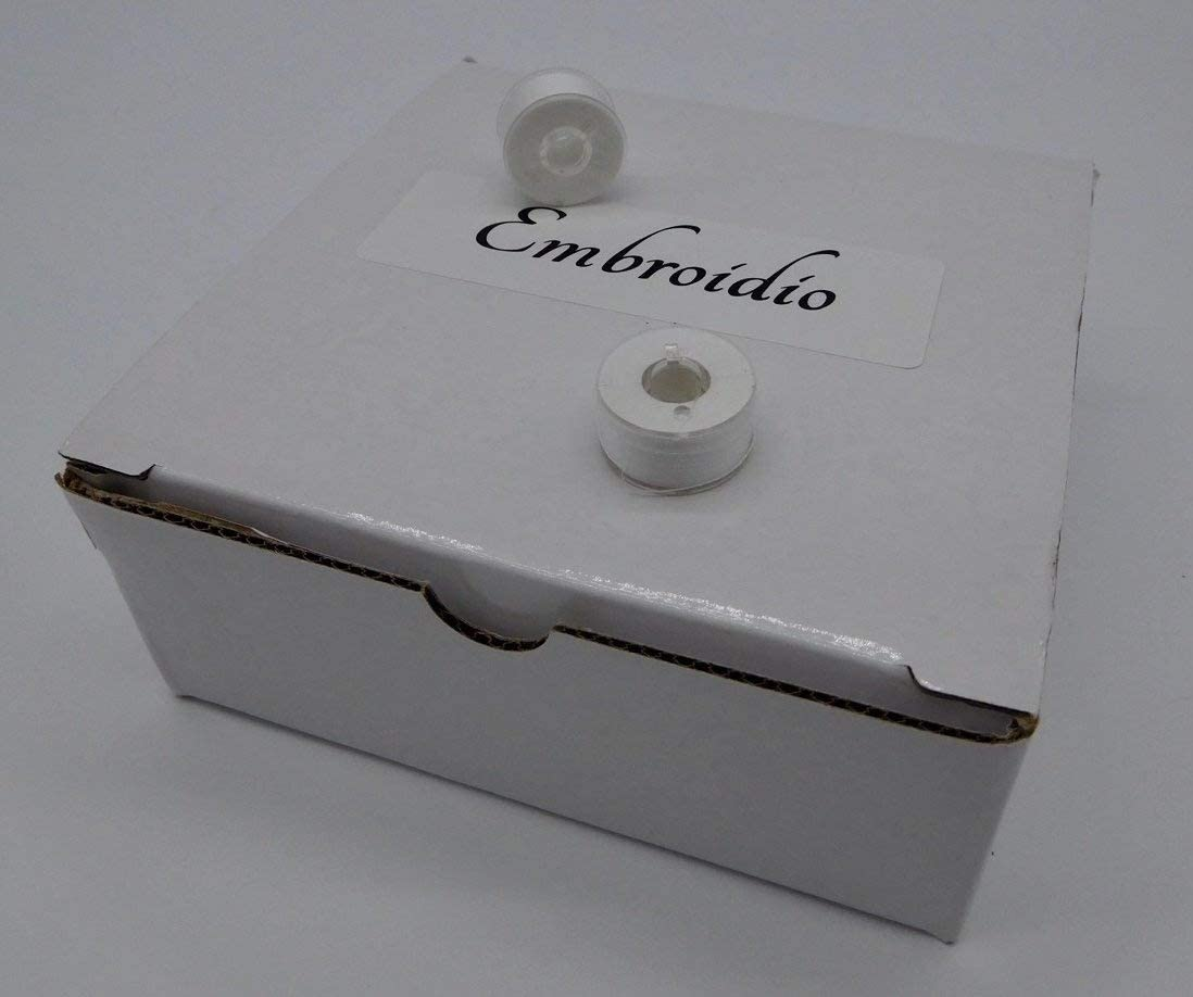 Kenmore Polyester White Bobbins for Babylock and Singer Embroidery Machines from Embroidio Janome Brother 60wt Class 15 or 156 144 Prewound Style A 60S//2 Bernina