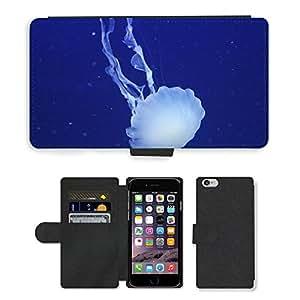 "Super Stella Cell Phone Card Slot PU Leather Wallet Case // M00149466 Jellyfish Ocean Sea Marine // Apple iPhone 6 4.7"""