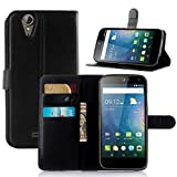 Junsi Wallet Holder Leather Pouch Case Cover For Acer Liquid Z630 Colour Black New Style