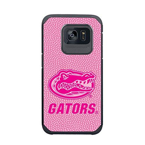 NCAA Florida Gators True Grip Football Pebble Grain Feel Samsung Galaxy S7 Case, Pink ()