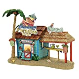 Department 56 Margaritaville Paradise Grill Musical Village Lit Building, Multicolored