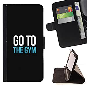For LG G Stylo / LG LS770 / LG G4 Stylus Go To Gym Training Lifting Weights Exercise Style PU Leather Case Wallet Flip Stand Flap Closure Cover