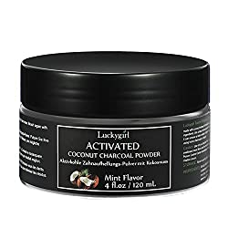 "Natural Activated Charcoal Teeth Whitening Powder""Naturally Whiten Teeth and Freshens Breath - 100% Organic Coconut Powder (Spearmint) Flavor"