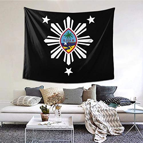 Merahans Guam Philippines Fashion Tapestry Wall Hanging, Home Decor Tapestries Wall Art for Bedroom Dorm Decor in 51×60 Inches