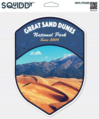 Squiddy Great Sand Dunes National Park - Vinyl Sticker Decal for Phone, Laptop, Water Bottle (3