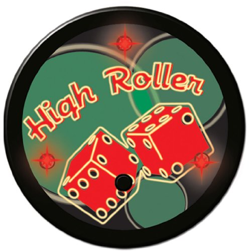 (Flashing High Roller Button Party Accessory (1 count))