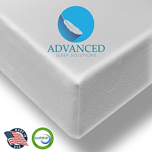 Advanced Sleep Solutions Pearl Gel Memory Foam Mattress - Triple Layer - 3.3 Pound Density - CertiPUR-US Certified - 20- Year Warranty - Proudly made in the USA, 10 Inch King Size