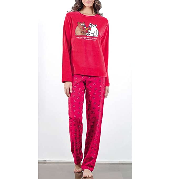 Kukuxumusu - Pijama Mujer ICESOSO Mujer Color: Cereza Talla: 38