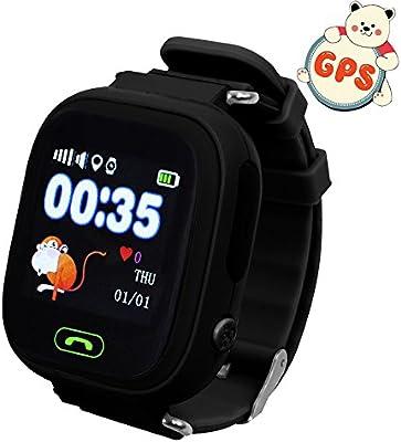Niños reloj de pulsera, GPS, 9tong Childrens relojes teléfono inteligente con GPS GSM SIM apoyo llamada SOS, Chat de voz, anti-lost Monitor, ...