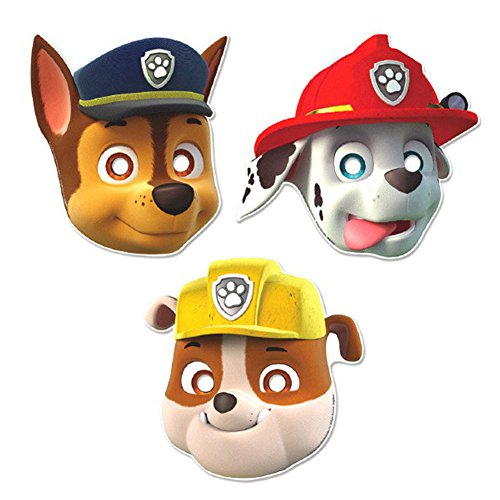 [Amscan Paw Patrol Party Paper Masks (16 Ct.)] (Nickelodeon Themed Costumes)