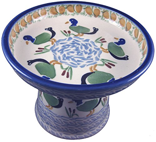 polish-pottery-cat-small-dog-raised-wet-food-canned-food-unikat-p323-duck