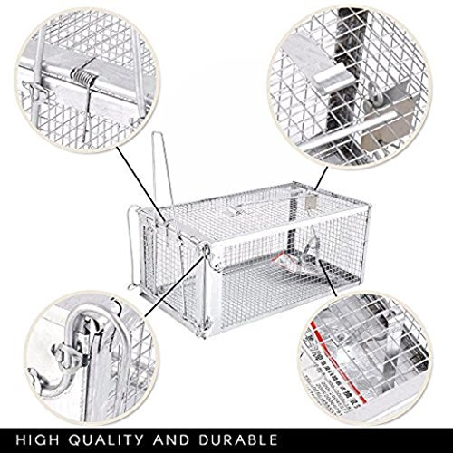SUJING Humane Mouse Trap Rat Trap Cage Live Animal Humane Trap Catch and Release Rats Mouse Mice Rodents (Animal Bait Trapping Kit)