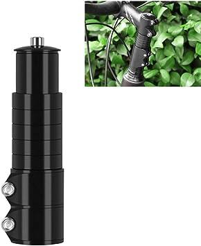 LQMILK Elevador de Manillar de Bicicleta, Bicicleta Extensor de Bicicleta Tenedor Vástago Ciclismo Levante Extensión Manillar Elevador, aleación de Aluminio Adaptador de Altura de Cabeza Ajustable: Amazon.es: Deportes y aire libre