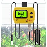 PH Monitor, RISEPRO Digital pH Thermometer Temperature Monitor With Replaceable BNC pH Probe