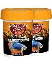 Omega One Freeze Dried Nutri-Treat Bloodworms Betta Treat 0.11 oz. (3g) Bundle (2 Items)